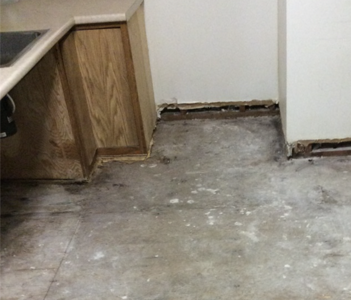 Burst Pipe and Floor Repair Before