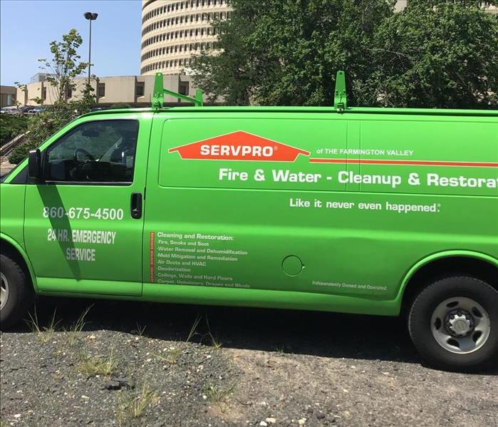 SERVPRO Service Vehicle side view
